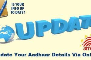 update aadhar details govt