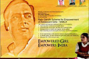 What is the Rajiv Gandhi Scheme for Empowerment of Adolescent Girls – Sabla