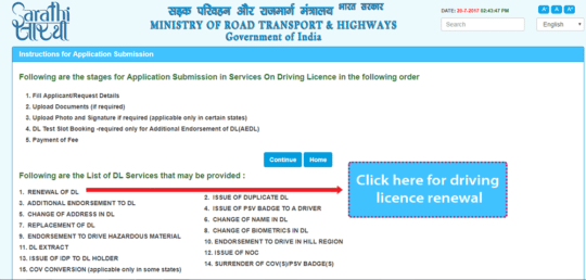 renew your Driving License