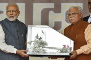 Prime Minister Narendra Modi in Gurugram