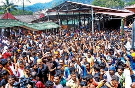 Sabarimala row Union Minister travels to Pamba, gets into the war of words with police